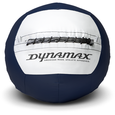 Dynamax Medicine Ball Standard Collection Navy/Gray.    BONUS - Free Exercise Brochure! - Home Gyms Depot