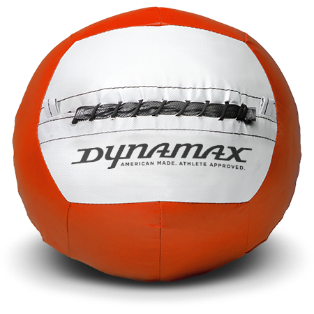Dynamax Medicine Ball Standard Collection Orange/Gray.    BONUS - Free Exercise Brochure! - Home Gyms Depot