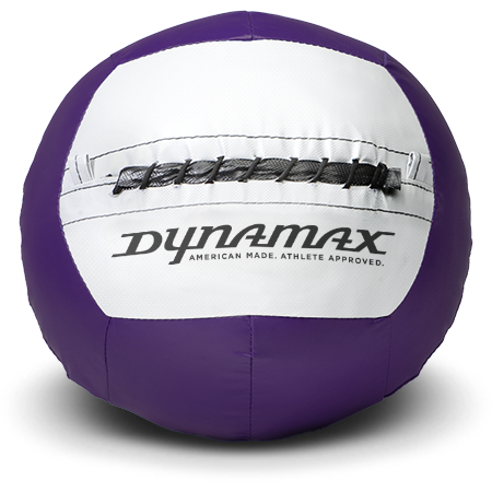 Dynamax Medicine Ball Standard Collection Purple/Gray.    BONUS - Free Exercise Brochure! - Home Gyms Depot