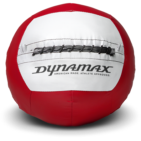 Dynamax Medicine Ball Standard Collection Red/Gray. BONUS - Free Exercise Brochure! - Home Gyms Depot