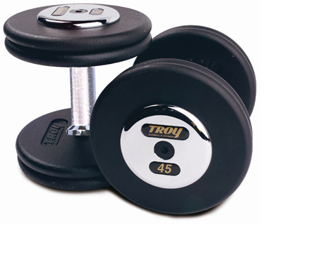 Troy Pro Style Black Dumbbells 5-100lb Set PFD-C - Home Gyms Depot
