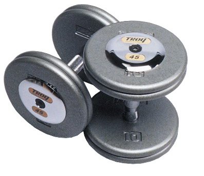 Troy Iron Pro-Style Hammertone Dumbbell Set 5-100 lb HFD-C - Home Gyms Depot