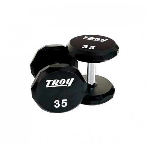 Troy 12 Sided Urethane Dumbbell Set 5-100lbs TSD-U - Home Gyms Depot