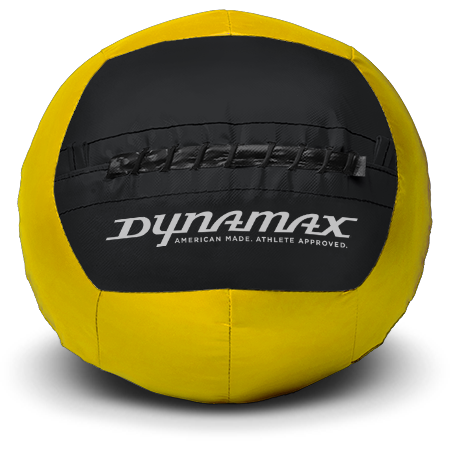 Dynamax Medicine Ball Standard Collection Yellow/Black.    BONUS - Free Exercise Brochure! - Home Gyms Depot