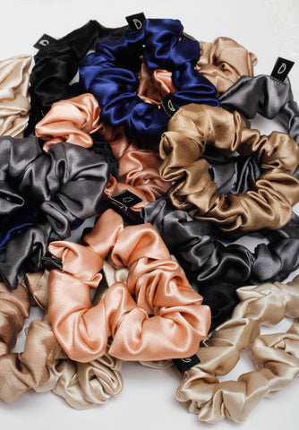 Dame Essentials Pure Silk Scrunchies