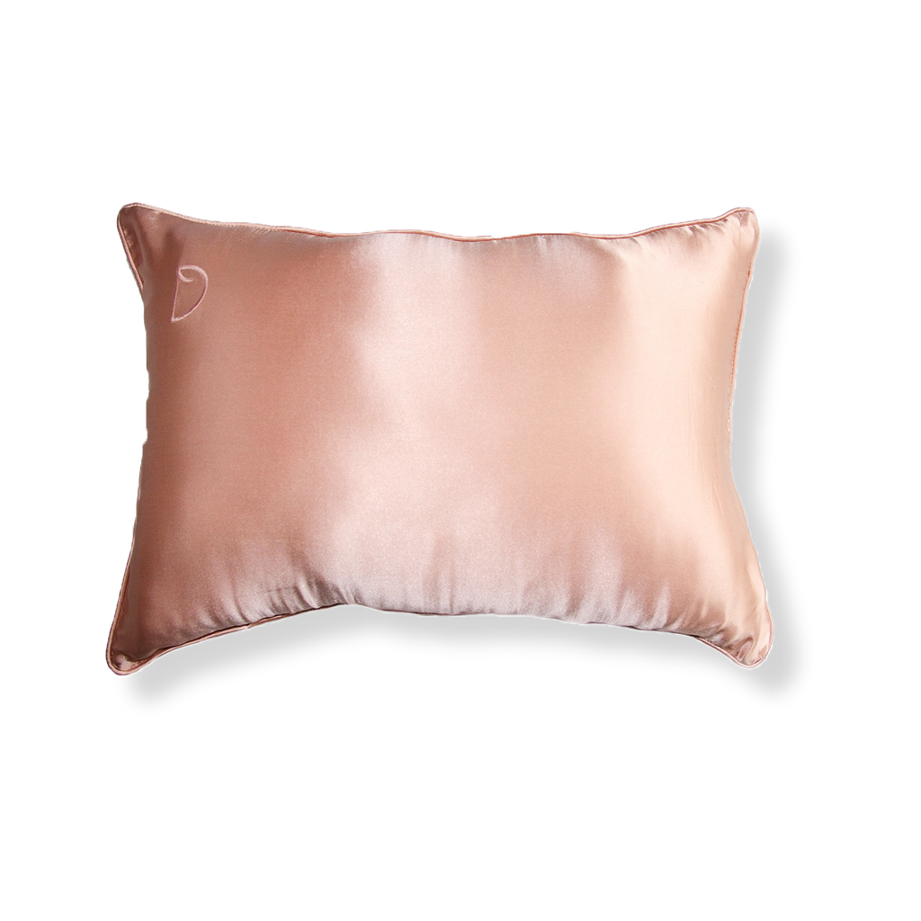 ROSE GOLD TRAVEL PILLOWCASE AND SLEEPING MASK