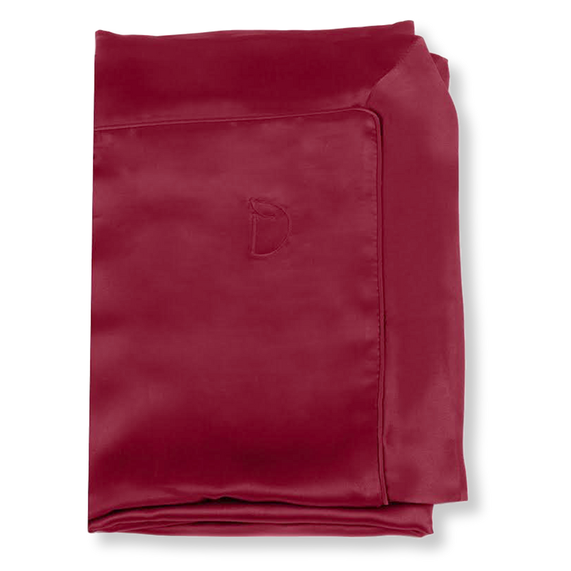 SET OF DAME ESSENTIALS BERRY BURGUNDY PILLOWCASE AND BERRY BURGUNDY EYE MASK