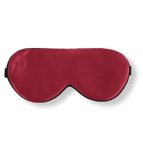 BERRY BURGUNDY SILK EYE MASK