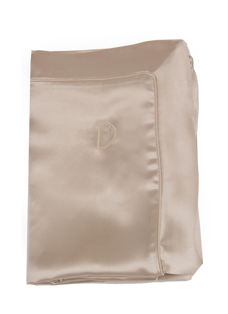 Champagne Gold silk pillowcase for skin