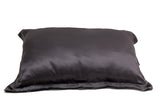 DAME ESSENTIALS CHARCOAL GREY SILK PILLOWCASE