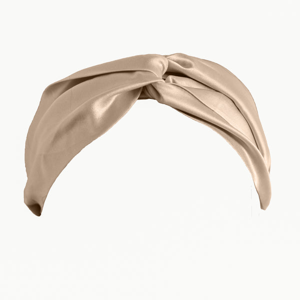 Champagne Gold Silk Hairband