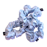 Opal Blue Pure Silk Scrunchies