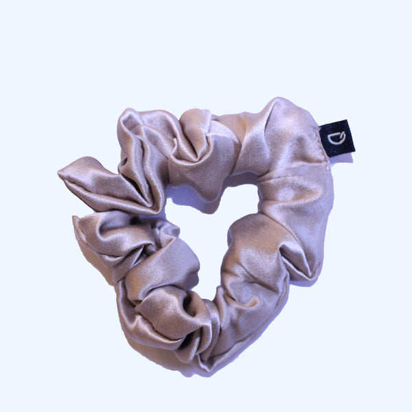 Mocha Gold Pure Silk Scrunchies