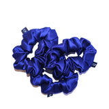 Midnight Blue Pure Silk Scrunchies
