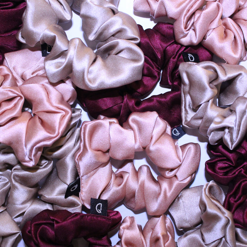 Pure Silk Scrunchies Sunset Collection