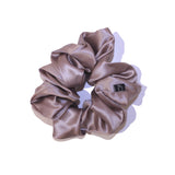 Mocha Gold Large Pure Silk Scrunchies