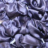 Charcoal Grey Large Pure Silk Scrunchies