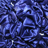Midnight Blue Large Pure Silk Scrunchies