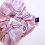 Rose Gold Large Pure Silk Scrunchies