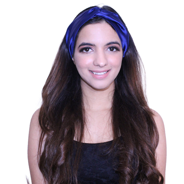 Midnight Blue Silk Hairband