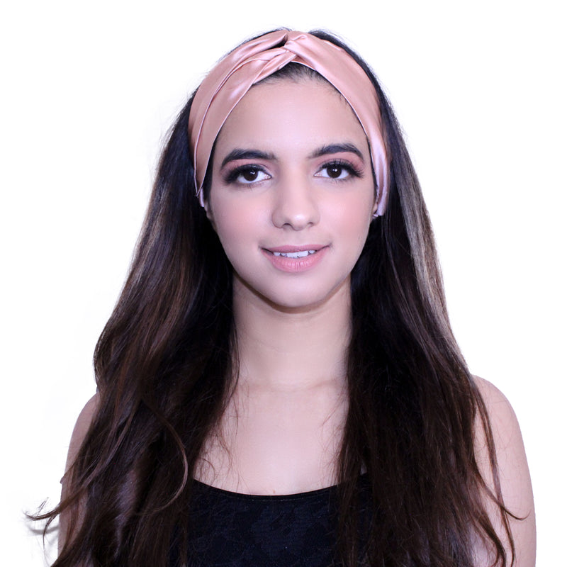 Rose Gold Silk Hairband
