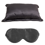 SET OF DAME ESSENTIALS CHARCOAL GREY PILLOWCASE AND CHARCOAL GREY EYE MASK
