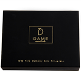 SET OF DAME ESSENTIALS OPAL BLUE PILLOWCASE AND NOIR BLACK EYE MASK