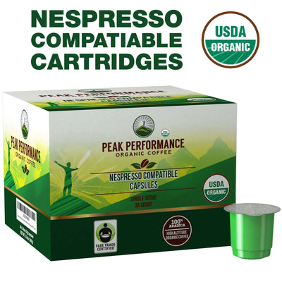 Coffee - Organic Nespresso Compatible Capsules (Medium Roast)