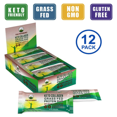 KETO Grass Fed Collagen Protein Bars (Chocolate Brownie)