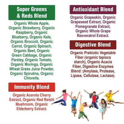 Kids Greens And Reds Superfood Supplement Powder