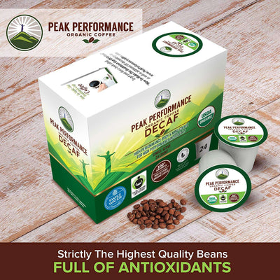 Organic DECAF K Cups High Altitude Coffee Pods