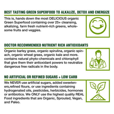 Organic Greens Superfood Powder Travel Packets