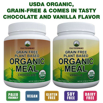 Organic Meal Replacement Powder (Vanilla)