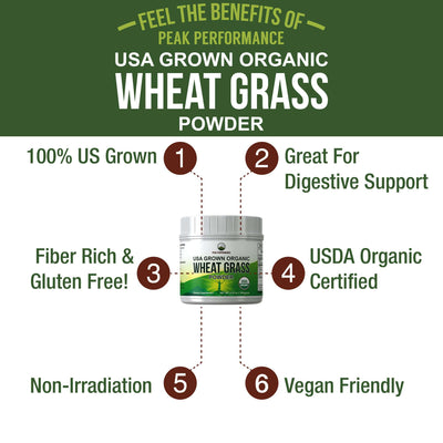 Organic Wheatgrass Powder (USA Grown)