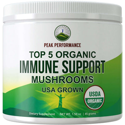 Top 5 Organic Immune Support Mushrooms Powder (USA Grown)