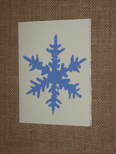 Snow Flake Christmas cards (by Charlee Weeks)_5 cards per pack