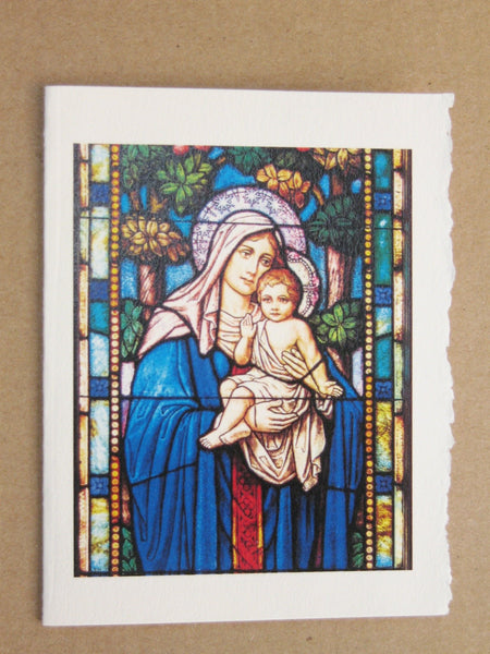 Cards, Xmas_Church Madonna and Child-5 cards per pack