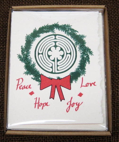 Cards, Xmas_Labyrinth Xmas Wreath