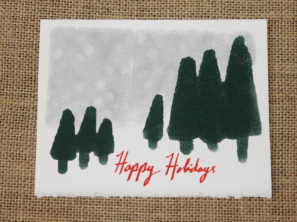 Cards, Xmas_Snow Scene_5 cards per pack