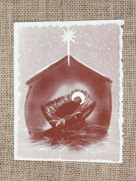 Cards, Xmas_Christ in Manger_5 cards per pack