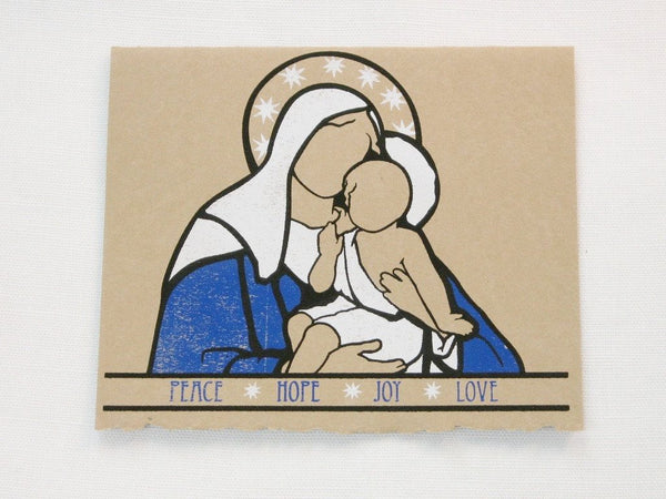 Madonna and Child Christmas cards (by Charlee Weeks)_5 cards per pack