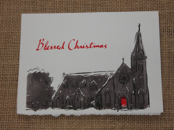 Church Christmas cards( by Benjamin Hart)_5 cards per pack