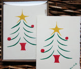 Cards, Xmas_Xmas Tree_5 cards per pack