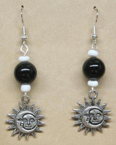 Jewelry, Half Moon/ Sun Earrings