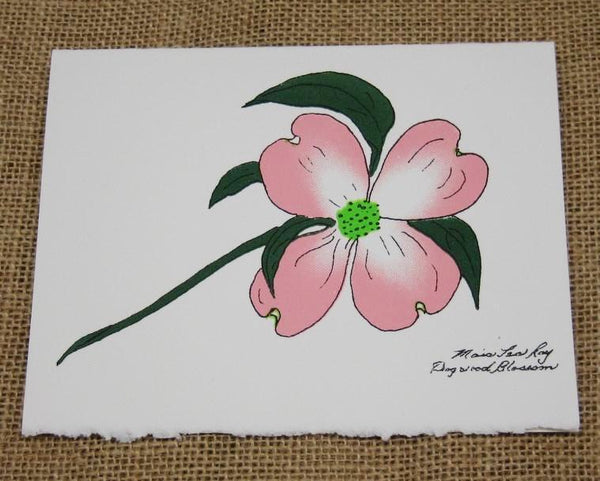 Cards, Dogwood Blossom-5 cards per pack