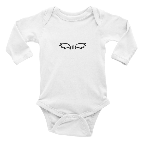 "MCC Milestone Tees ""1"" Infant/Baby long sleeve one-piece"