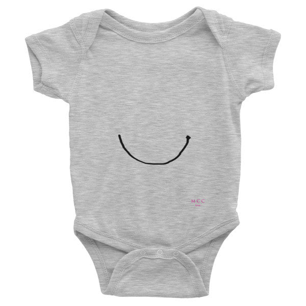 "MCC ""smile"" Infant short sleeve one-piece"