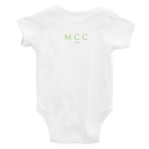 "MCC ""love got me here"" Infant short sleeve one-piece"