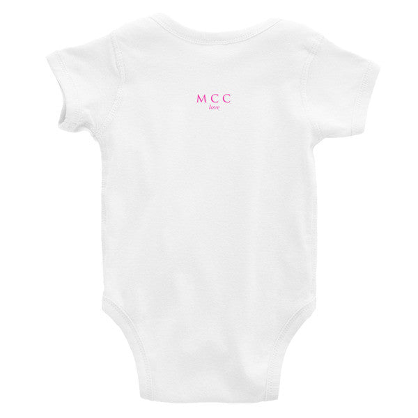"MCC ""smile"" letters Infant short sleeve one-piece"
