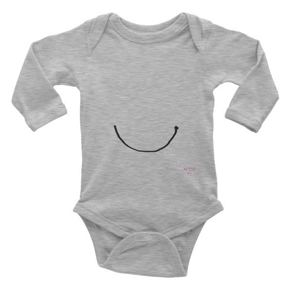 "MCC ""smile"" Infant long sleeve one-piece"